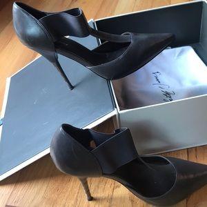 Elizabeth & James E-Jolie Grey Leather Pumps, 8.5